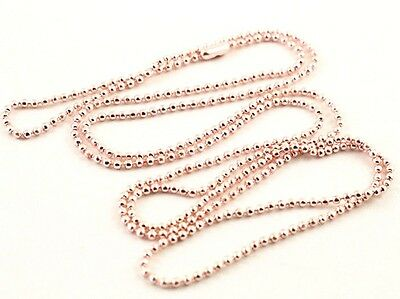 1.5 / 2 / 2.4mm ROSE GOLD Coloured Ball Chain Craft Findings Necklace 70cm Long