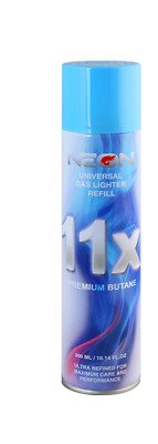 Neon 11x Ultra Refined Butane Fuel Lighter Gas 300ml - (1) Can - SAME DAY SHIP