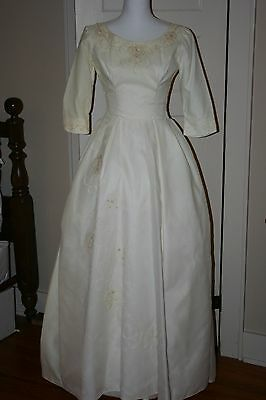 vintage wedding dress , 50's- early 60's, custom, small 2-4, lovely