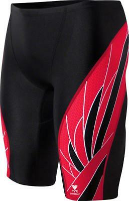 TYR Phoenix Splice Jammer Men's Swimsuit: Black/Red 36