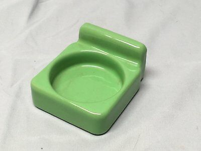 Vtg Ceramic Jadeite Porcelain Wall Mount Cup Holder Old Bathroom Fixture 612-17E