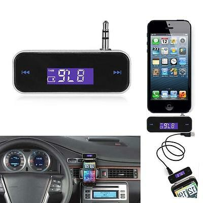 Wireless Music to Car Radio FM Transmitter For 3.5mm MP3 iPod iPhone Tablets HH