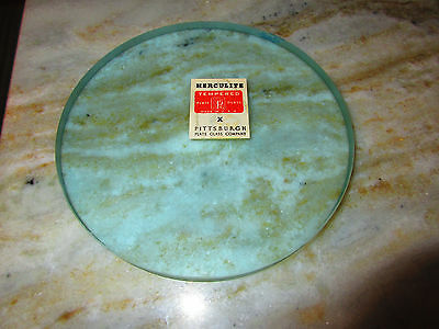 """Vintage New Herculite  6"""" X 1/2"""" Thick Port Hole Glass  Boat, Sail Boat, Ship"""