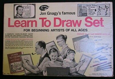 "Vintage Original 1950 Edition Of Jon Gnagy's ""learn To Draw Set"" #3129"