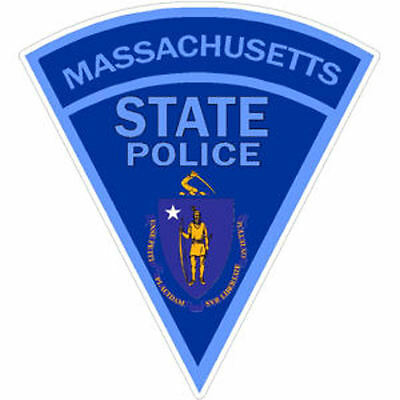 4 Inch Non-Reflective Massachusetts State Police Sticker Decal