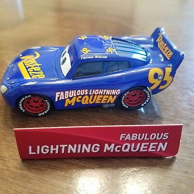 Disney Pixar World of Cars 3 Fabulous Lightning Mcqueen 1:55 Loose No Package
