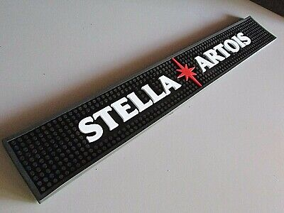 NEW 24 x 3 Stella Artois Large Beer Rubber Bar Spill Mat for tap / Chalice glass