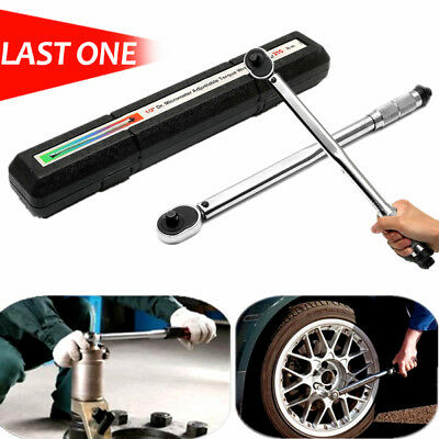 Flexible Ratchet Spanner Head 1/2'' Square Drive 28-210Nm Accurate Torque Wrench