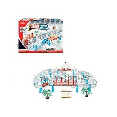 Electric Slot Car Set Train Set Battery Operated engine+Railway 52cm x 90cm 6301