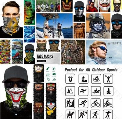 Skull Camo Face Shield Balaclava Neck Gaiter Bandana Neckerchief Sun Mask