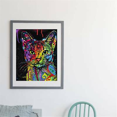 Modern Abstract Huge Wall Art Oil Painting On Canvas Colorful Cat  Not Framed