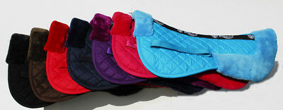 Rhinegold Comfort Saddle Pad Cotton Quilted Half Pad