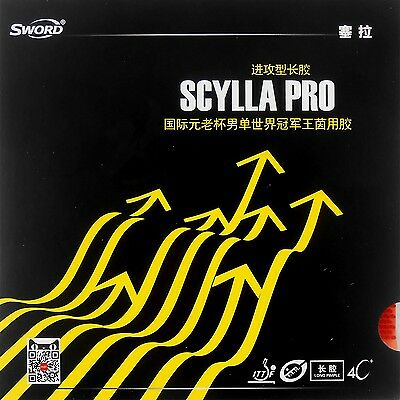 Sword SCYLLA PRO Table Tennis Rubber Long Pips Out Without Sponge Top Sheet Red
