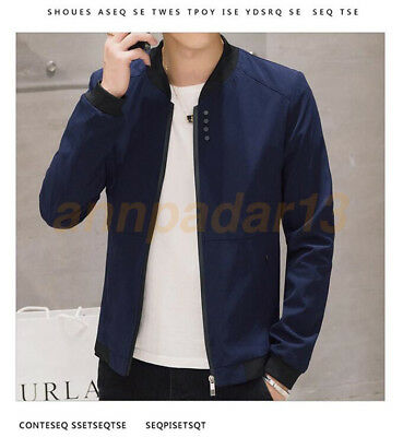 Men's Slim Fit collar jackets fashion New Hot jacket Tops Casual coat outwear