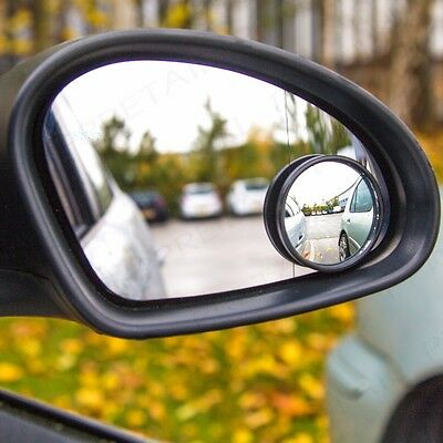 """QUALITY ADHESIVE 2"""" ROUND BLIND SPOT WIDE ANGLED MIRROR Easy Fit Car Wing Safety"""