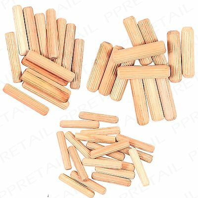 44Pc Wooden Dowel Pin Set +6/8/10MM+ Small-Large Wood Working/Hardware Tools