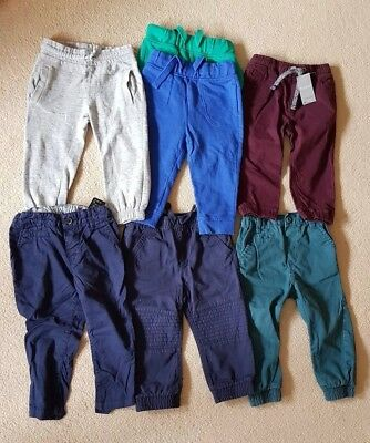 Bundle Of 7 Boys Trousers 12-18 Months some new some used