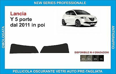bands sunshade glass Lancia Ypsilon 5 doors from 2011 on