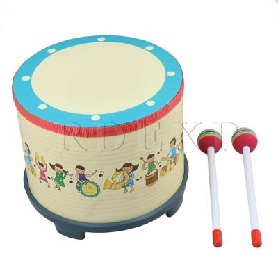 175mm High Wooden Polyester Percussion Floor Tom Drum for Children