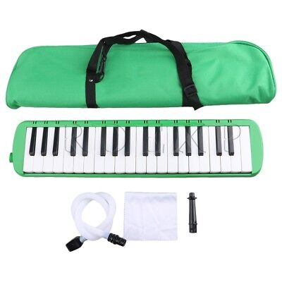 Green 37 Notes Piano Keys Melodica Portable w/ Bag Mouthpiece Tube