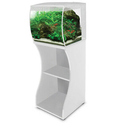 Fluval Flex 57L White LED Aquarium & Cabinet/Stand Nano Fish Tank with Filter