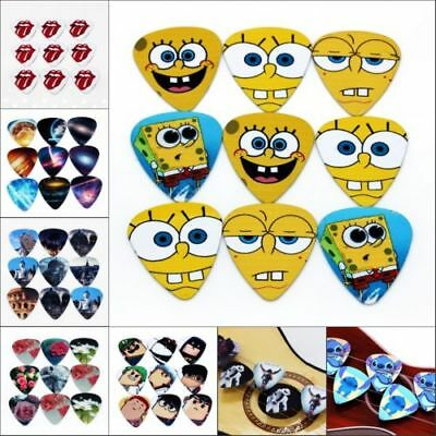 10pcs 0.71mm Funny Acoustic Electric Guitar Picks Plectrums Musical Accessories