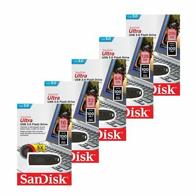 Sandisk 16/32/64/128/256GB CZ48 Ultra USB 3.0 Flash Drive Speicherstick