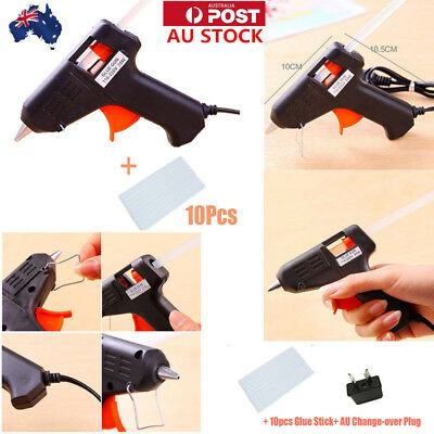 AU STOCK Hot Melt Glue Gun Stick Electric Art Craft Repair Tools 20W Heating