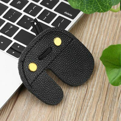Cow Leather Archery Finger Guard Protection Pad Glove Tab Bow Shooting PF