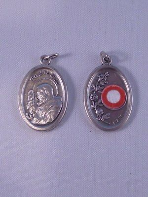 St Pio ~ Medal with Relic ~ Pack of Two