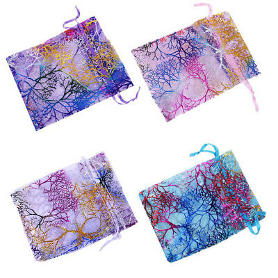 25/50/100 Sheer Coralline Organza Jewelry Pouch Party Favor Gift Bags Seraphic