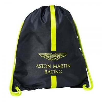 Official Aston Martin Racing Drawstring Bag Navy with Green/Yellow accents