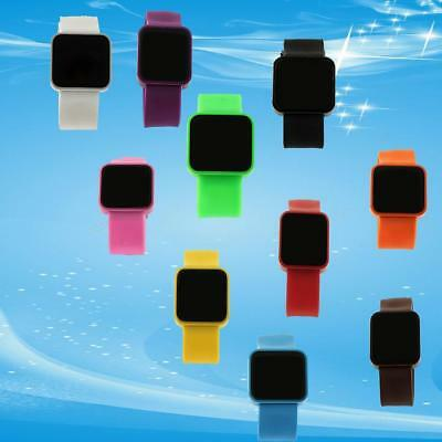Trendy LED Digital Touch Screen Silicone DateTime Sport Wrist Light Watch T7