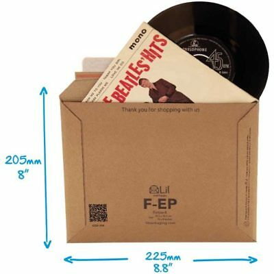 """10 x FEP 7"""" RECORD MAILERS. SO VERY STRONG THESE DO NOT REQUIRE STIFFENER PADS"""