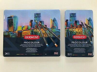 Derwent Procolour - Professional Quality Coloured Pencils - Pack of 12 or 24