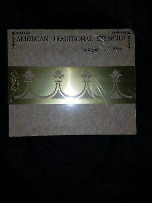 Vintage American Traditional Stencils Solid Brass St-335 Border Brand New