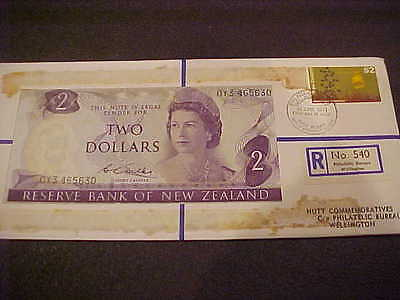 1971 Hutt Comm. New Zealand $2.00 Banknote 30 Of 120 R No 540 Hutt Pnc Series 31