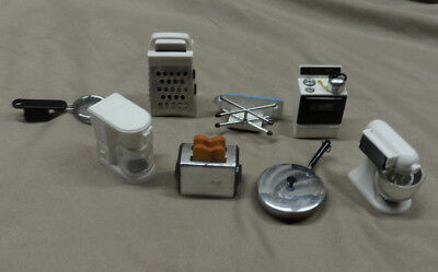 LOT of 8 Vintage Acme Doll House Miniature Kitchen Appliance Magnets - Preowned