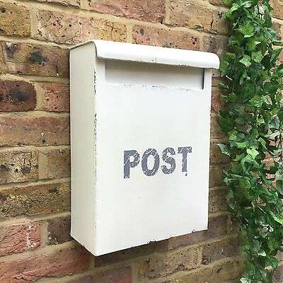 Large Vintage Style Metal Post Box Wall Mounted Letterbox Metal Postbox Mailbox