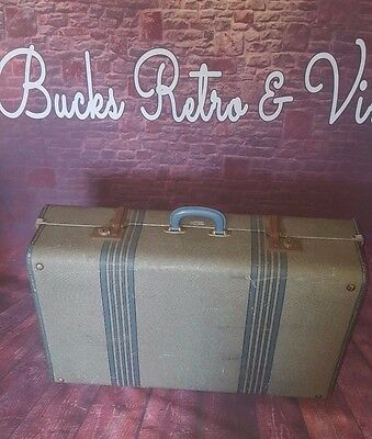 Vintage Overpond Travel Trunk Suitcase Storage Blanket Box Toys Coffee Table