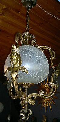 Antique French Gilt Empire Style Neoclassical Ceiling Light C1900