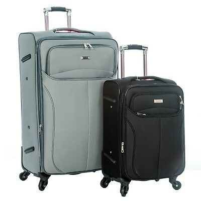 4 Wheel Hard Shell Suitcase Travel Bag Case Cabin Hand Luggage Lightweight ABS
