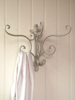 French Antique Vintage Style Metal Wall Coat Hooks Rack Hanger Shabby Chic NEW