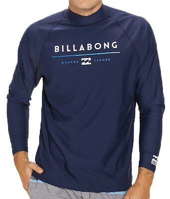 New +Tag Billabong Mens Xxxl Tri Unity Wet Shirt Rash Vest Relax Fit Long Sleeve