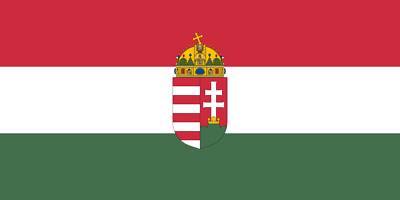 Hungary Hungarian With Crest Flag 5Ft X 3Ft 150Cmx90Cm