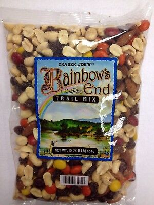 Trader Joe's Rainbow End Trail Mix 16oz(1lb) with Nuts, Raisin and Chocolate