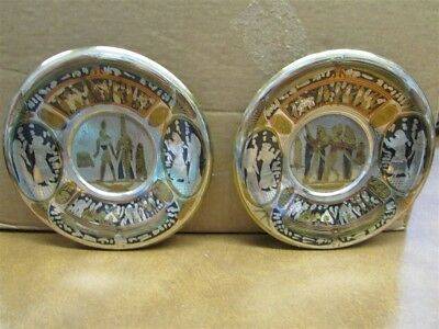 A Pair of Small Hand Made Egyptian Plates A-11