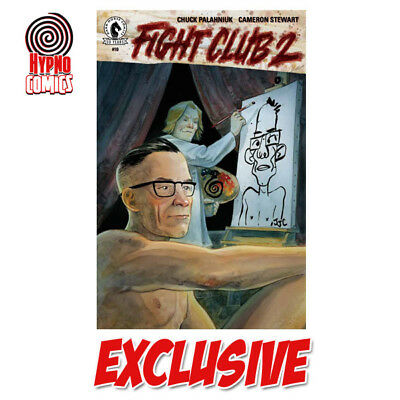 Fight Club 2 #10 Signed Chuck Palahniuk Exclusive Hypno Crook Variant Cover Hot!