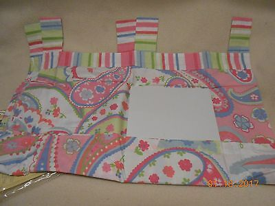 New Tab Top Valance Pretty  Sumersault Pink Floral Design Baby Girl Free Ship