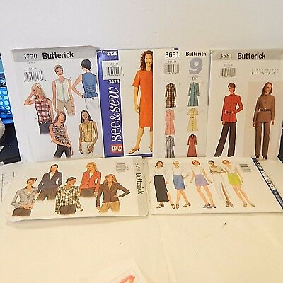 LOT OF 2 Sewing Patterns Uncut Size sizes 20 Butterick Simplicity ...